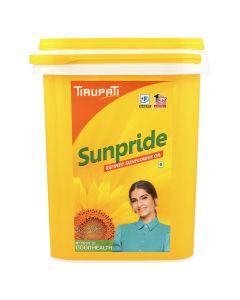 Tirupati Sunpride - Refined Sunflower Oil 15 Ltr Bucket Jar