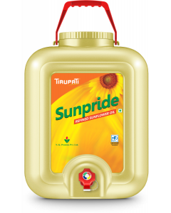 Tirupati Sunpride - Refined Sunflower Oil 15 Ltr Tap Jar