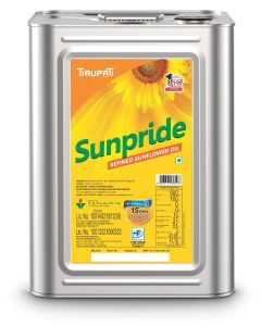 Tirupati Sunpride - Refined Sunflower Oil 15 Ltr Tin