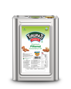 Tirupati Premium Groundnut Oil 15 Ltr tin