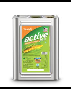 Tirupati Active Plus - Refined Corn Oil 15 Ltr tin
