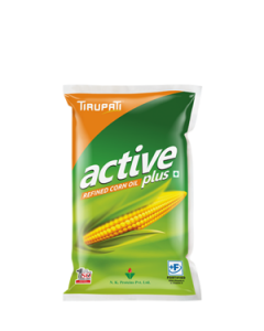 Tirupati Active Plus - Refined Corn Oil 1 Ltr Pouch