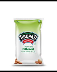 Tirupati Premium Groundnut Oil 1 Ltr Pouch