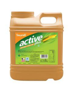 Tirupati Active Plus - Refined Corn Oil 15 Ltr Jar