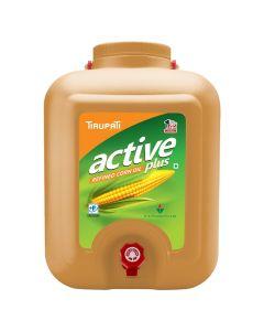 Tirupati Active Plus - Refined Corn Oil 15 Ltr Tap Jar
